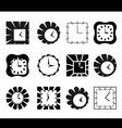 Set of graphic abstract clock symbols vector image vector image