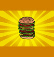 big burger fast food vector image