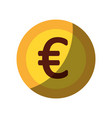 coin money euro icon vector image