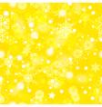 Golden winter seamless pattern vector image