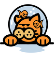 Fun Cartoon cat vector image vector image