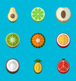 set of 9 editable dessert icons includes symbols vector image