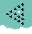 Flock of birds flying in the sky vector image vector image