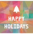 Happy holidays1 vector image