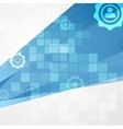 Abstract blue tech communication background vector image