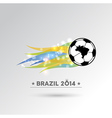 Brazil 2014 Soccer ball design element vector image