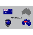 Map of Australia and symbol vector image