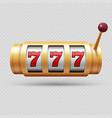 realistic casino slot machine or lucky symbol vector image