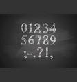 steampunk font on blackboard vector image