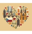 Traditional symbols of the Prague and Czech vector image