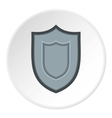 Combat shield icon flat style vector image