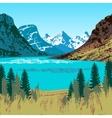 Glacier National Park vector image vector image