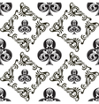 Pattern Club Ornamental Black and White vector image