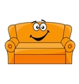 Cartoon upholstered couch vector image vector image