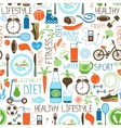 Sport Diet and Fitness pattern vector image