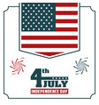 4th july independence day usa flag hanging poster vector image