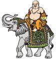 buddha and elephant vector image
