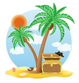 tropical palm tree 03 vector image vector image