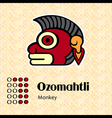 Aztec symbol Ozomahtli vector image vector image