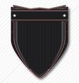 Black Biker Shield vector image
