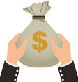 Businessman Holding A Money Bag vector image