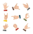 Empty hands holding protect giving gestures icons vector image