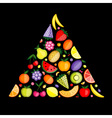 Fruit pyramid for your design vector image