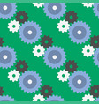 gears seamless pattern background machine vector image
