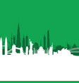 green cityscape background vector image