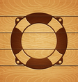 lifebouy on wooden background vector image