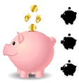 Piggy bank set vector image