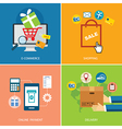 set of e-commerce and shopping concept flat design vector image