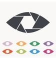 Shutter eye conceptual flat abstract icon vector image