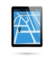 Tablet map location vector image