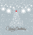 vintage christmas blue card vector image