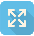 Full screen icon vector image