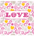 Vintage floral love background vector image vector image