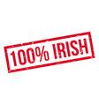 100 percent irish rubber stamp vector image