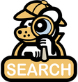 Animal web search vector image