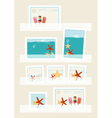 Summer postage stamps collection vector image vector image