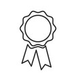 blank award rosette with ribbon vector image