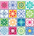 portuguese tiles pattern - azulejo seamless vector image