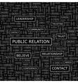 PUBLIC RELATION vector image vector image