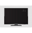 tv on transparent background vector image