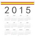 Simple spainish 2015 year calendar vector image