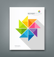 Cover Annual report colorful windmill paper vector image vector image