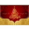 Classic Christmas tree vector image