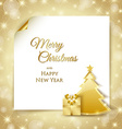 Christmas tree and gift document template vector image