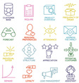 Customer Relationship Management Icons - part 2 vector image vector image