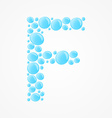 Alphabet Letter F vector image